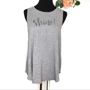 "Old Navy | ""Shine"" Graphic Tank Heather Gray"